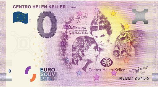Nota Euro Souvenir - Centro Helen Keller